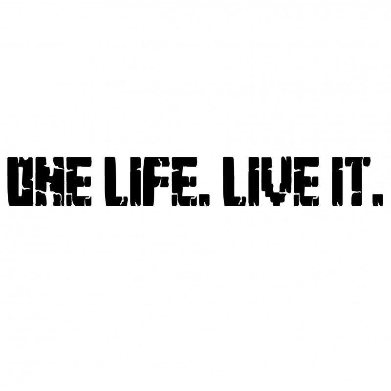 Adesivo One Life Live it scritta mod.b