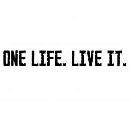 Adesivo One Life Live it scritta mod.c