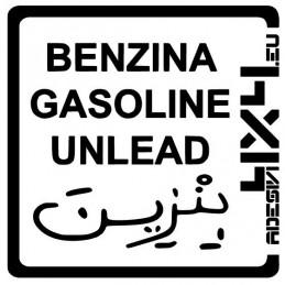 Adesivo carburante Benzina adesivi4x4
