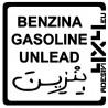 Adesivo carburante Benzina