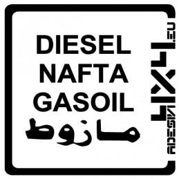 Adesivo carburante Diesel adesivi4x4
