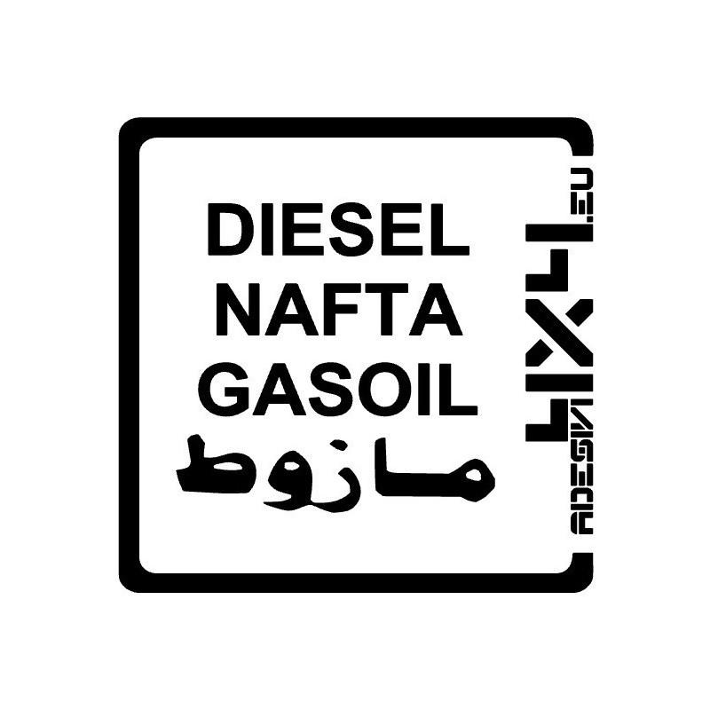 Adesivo carburante Diesel