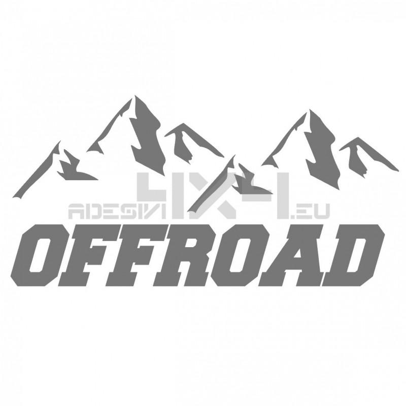 Adesivo montagne scritta off road