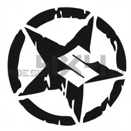 Adesivo stella consumata SUZUKI logo