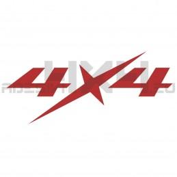 Adesivo scritta 4x4 mod.x