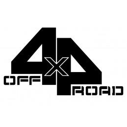 Adesivo scritta 4x4 off road mod a