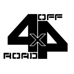 Adesivo scritta 4x4 off road mod b