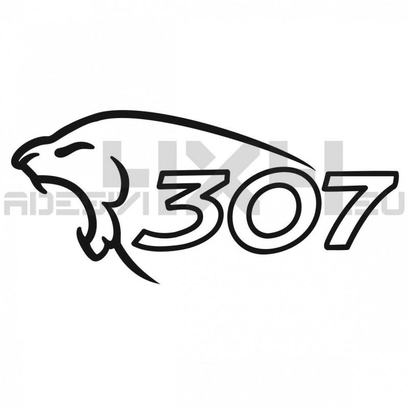 Adesivo Peugeot lion 307