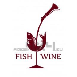 Adesivo fish & wine