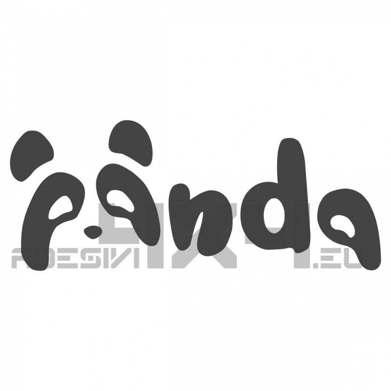 Adesivo scritta panda v2