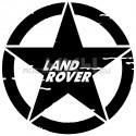 Adesivo stella US ARMY consumata scritta Land Rover