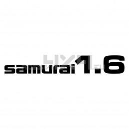 Adesivo suzuki scritta SAMURAI 1.6