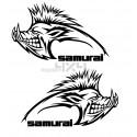 Adesivo cinghiale samurai