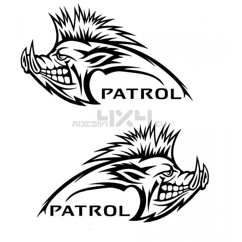 Adesivo cinghiale NISSAN patrol