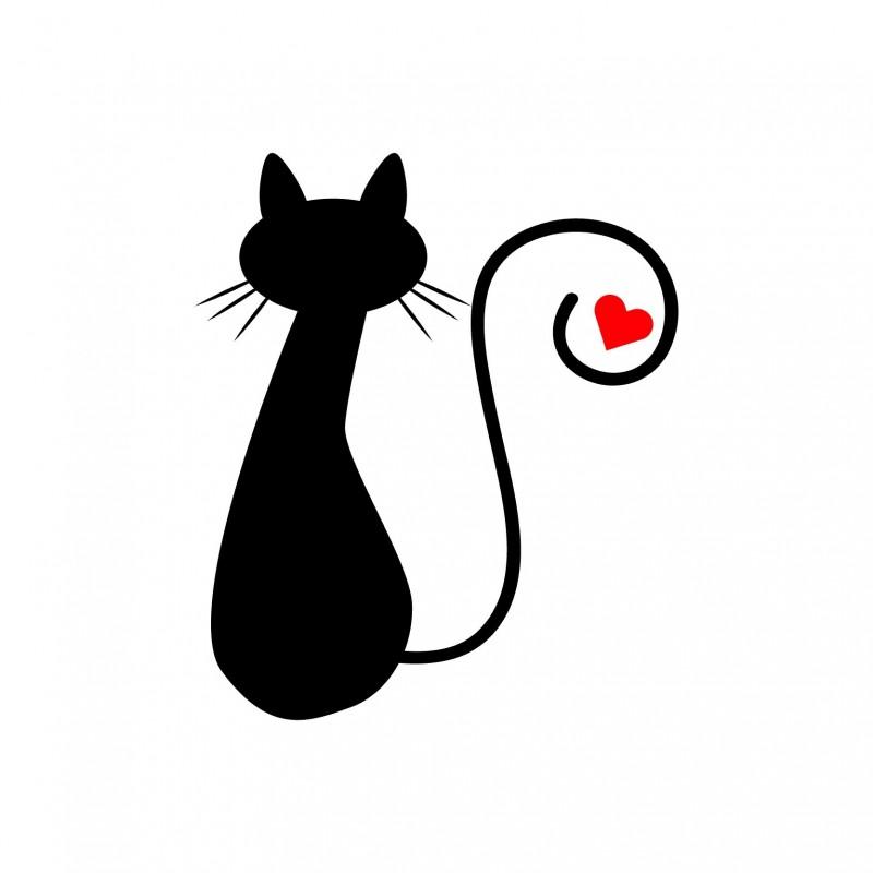 Adesivo gatto love 1