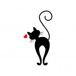 Adesivo gatto love 2