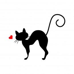 Adesivo gatto love 3