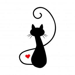 Adesivo gatto love 6