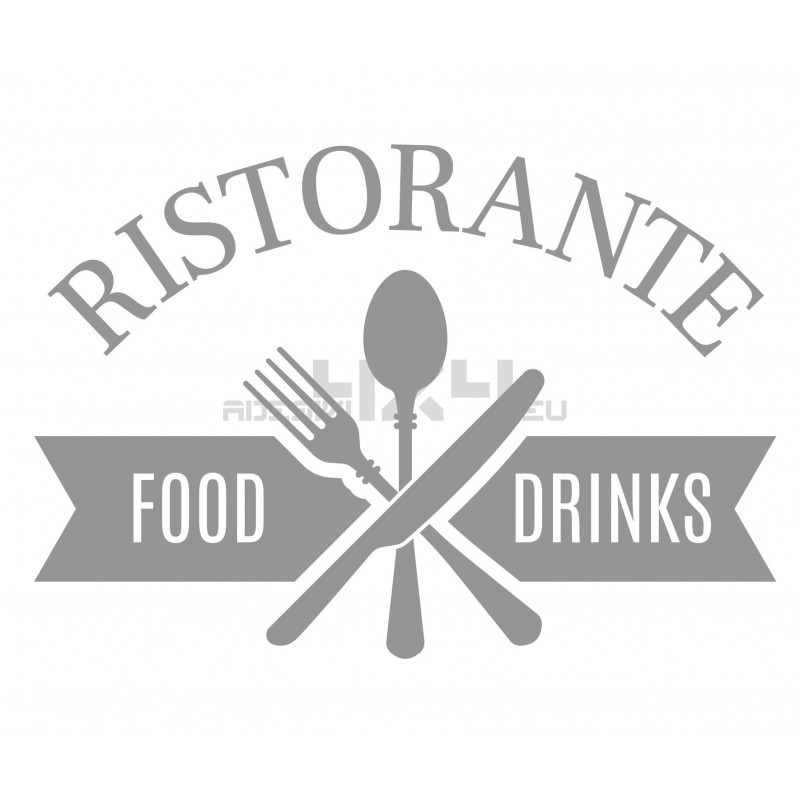 Adesivo vetrofania ristorante 1