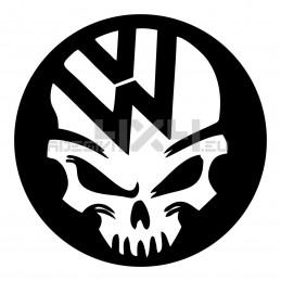 Adesivo volkswagen skull cerchio
