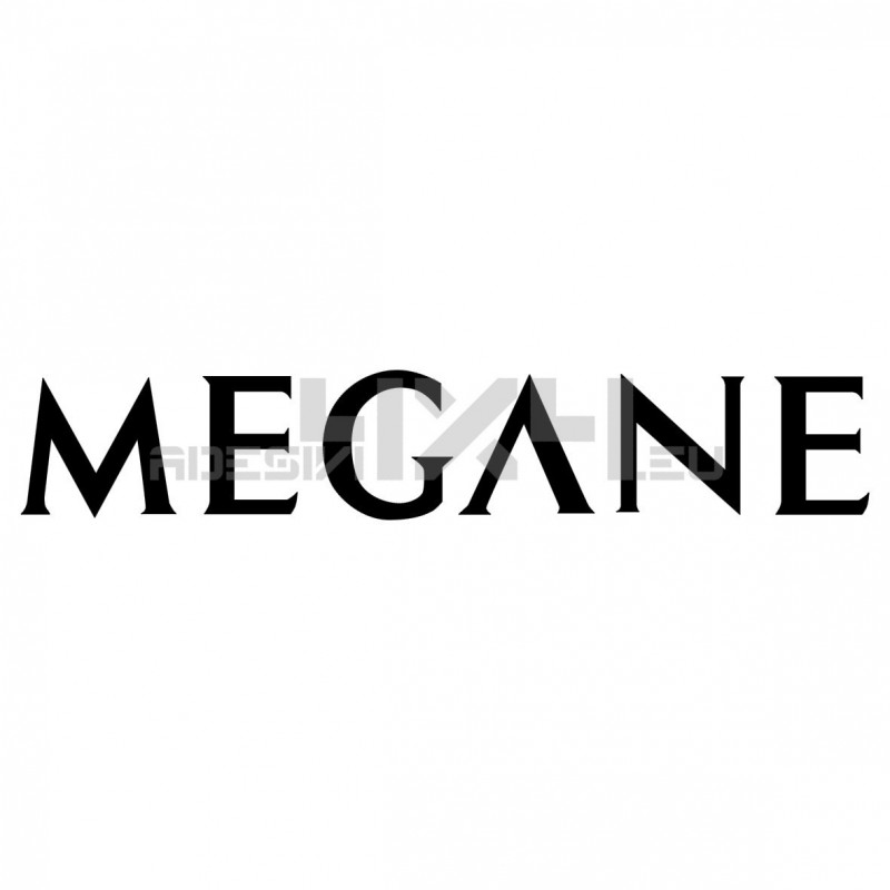 Adesivo RENAULT scritta megane v2
