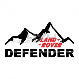 Adesivo 4x4 montagne land rover defender