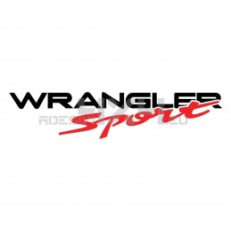 Adesivo scritta wrangler sport