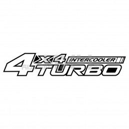 Adesivo 4x4 turbo intercooler