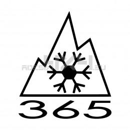 Adesivo 365 neve