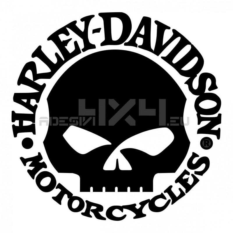 Adesivo harley davidson motorcycles teschio cerchio