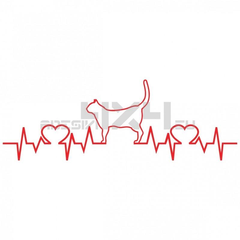 Adesivo cats love pulse