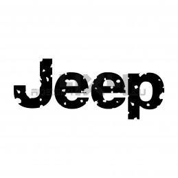 Adesivo logo scritta Jeep consumata