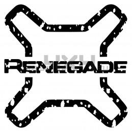 Adesivo jeep logo RENEGADE consumato