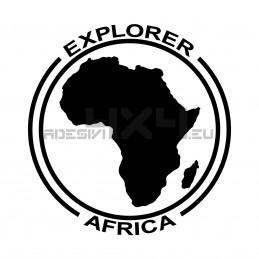 Adesivo cerchio explorer africa