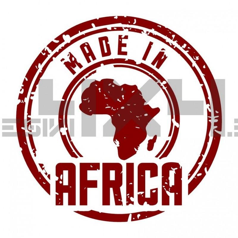 Adesivo made in africa consumato
