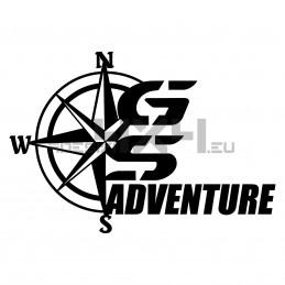 Adesivo bmw GS adventure rosa dei venti