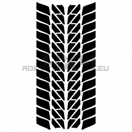 Adesivo impronta pneumatico stradale L mod.1