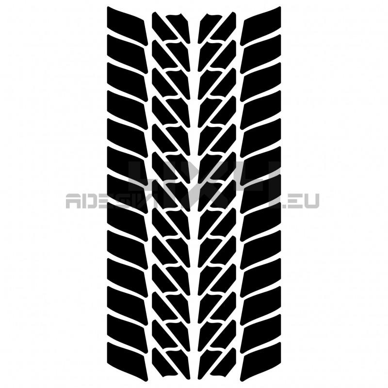 Adesivo impronta pneumatico stradale mod.1