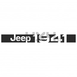 Adesivo Jeep 1941 - 03