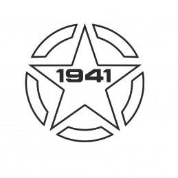 Adesivo stella US ARMY 1941 contorno