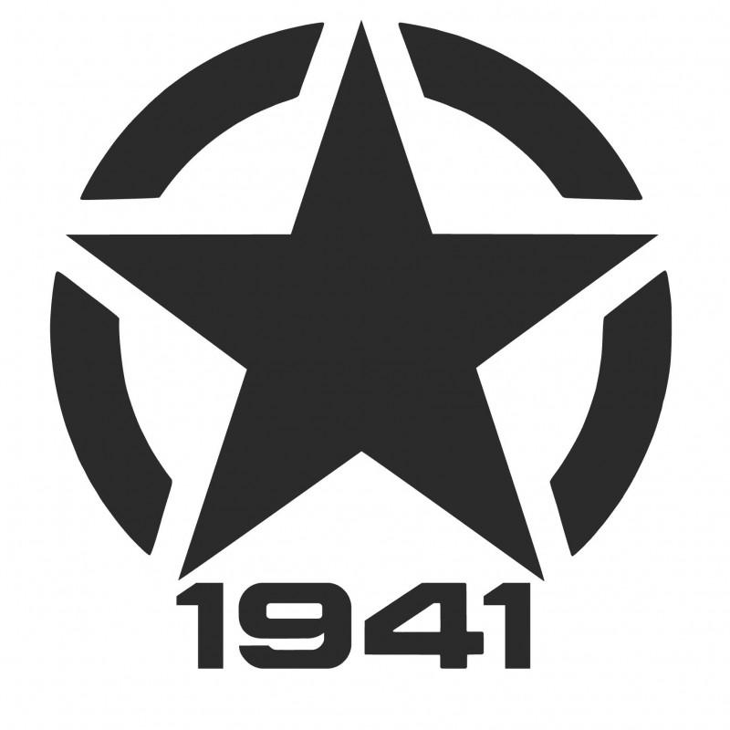 Adesivo stella US ARMY 1941 v3