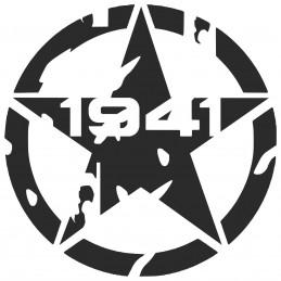 Adesivo stella US ARMY 1941 consumata