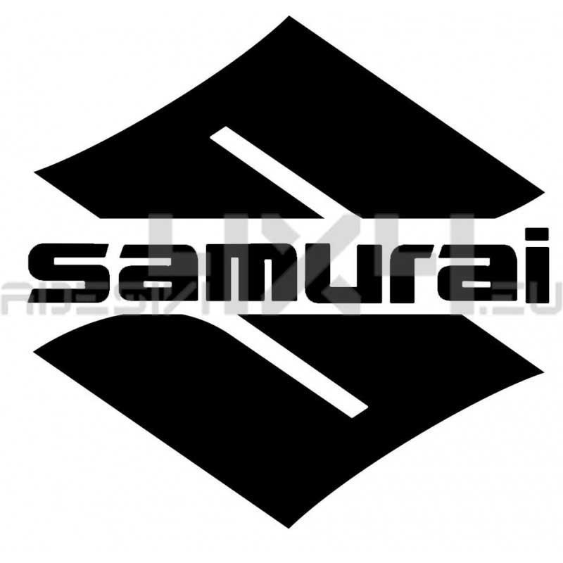 Adesivo logo SUZUKI scritta samurai