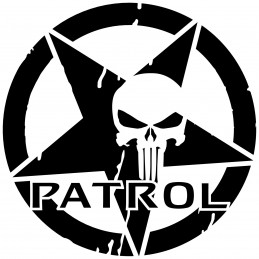Adesivo stella US ARMY the punisher patrol v2