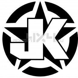 Adesivo stella us army JK v2