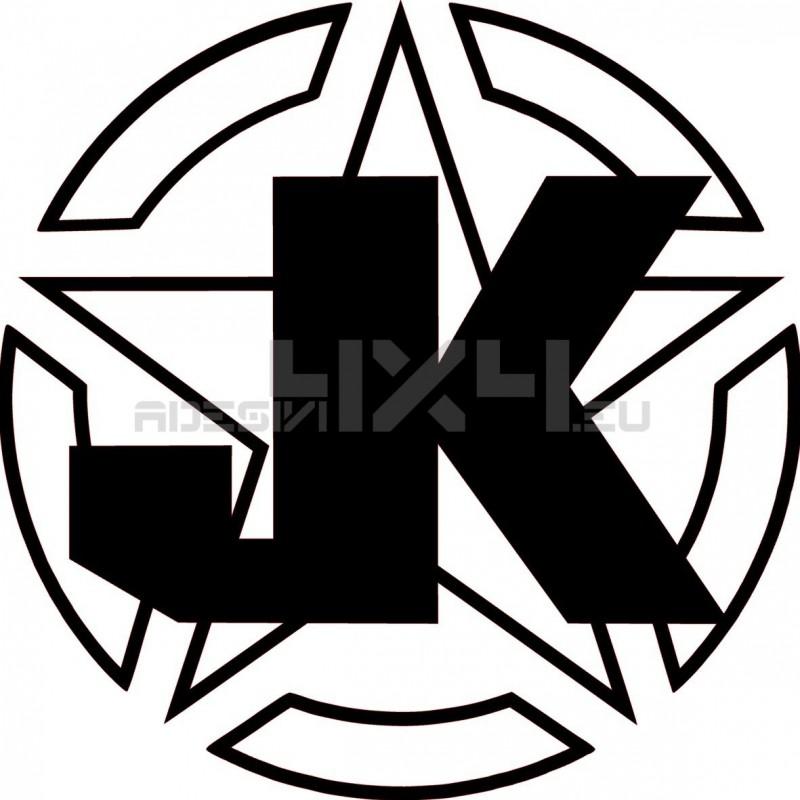 Adesivo stella us army contorno JK v2