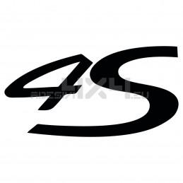 Adesivo Porsche scritta 4s
