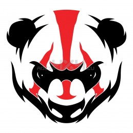 Adesivo panda FIGHTER