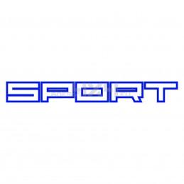 Adesivo scritta Sport contorno