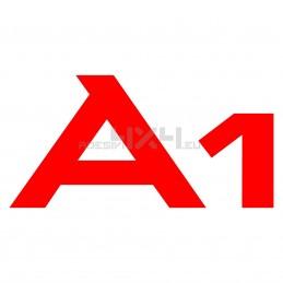 Adesivo AUDI scritta A1